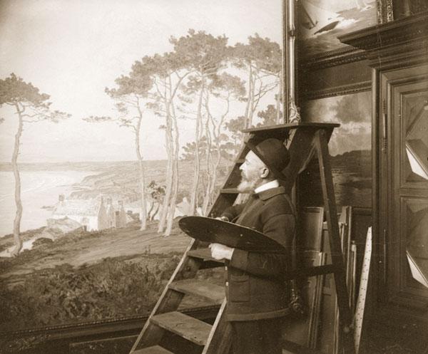 André Dauchez dans son atelier rue Saint Guillaume