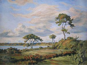 Sur la grande baie de l'Odet – 1938 Huile sur toile, 75 x 54 cm