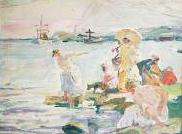 Étude pour les Baigneuses Esquisse, huile sur toile 29 x 38 cm Collection particulière