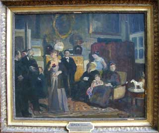 Réunion de famille chez l'artiste, vers 1910 de Lucien Simon