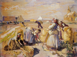 La récolte des pommes de terre - 1923Aquarelle sur papier, 140 x 185 Nantes, musée des Beaux-Arts