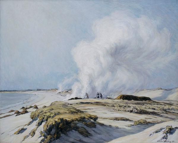 Fumées de goémon - 1931 Huile sur toile, 160 x 130 cm