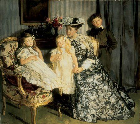 Madame Lucien Simon et ses enfants – 1903 Huile sur toile, 171,5 x 193,5 Budapest, musée des Beaux-Arts