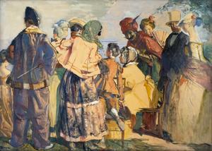Mascarade après 1920 de Lucien Simon
