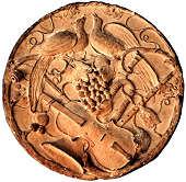 Bas-relief aux faisans et raisins Terre-cuite originale de P. Simon Collection particulière © Photo Yann Torchet - Atelier Paul Simon