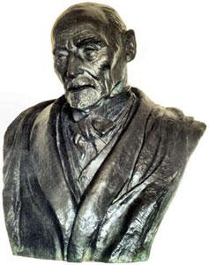 Buste du peintre Aman-Jean par Paul Simon