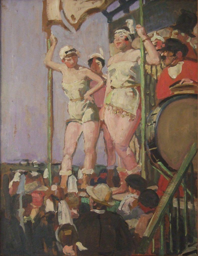 Parade foraine à Kérity - 1941 Huile sur toile, 140 x 245 Collection particulière de Lucien Simon