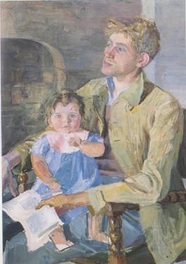 Bernard La Jarrige et leur première fille Françoise de Pauline SImon