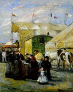 La diseuse de bonne aventure derrière les tréteaux vers 1919Huile sur toile - 48 x 38 Collection particulière