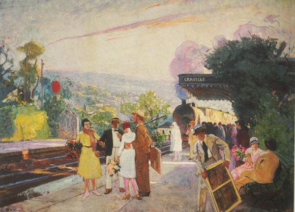 Atelier aux champs, la gare de Chaville, Lucien Simon