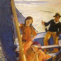 La Voile Bleue - 1912 Huile sur toile, 228 x 150 Venise, Ca'Pesaro, musée d'Art moderne et contemporain