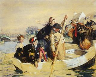 Le passeur ou Scène bretonne de Lucien Simon
