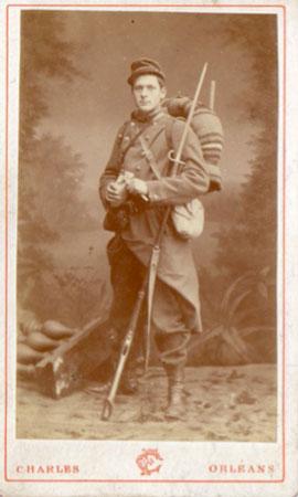 George Desvallières (1861-1950) Lors de son volontariat au 131e Régiment de ligne à Orléans, en 1880