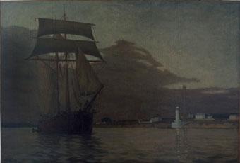 Voilier sortant de Bénodet – 1897 Huile sur toile, 113 x 167 cm