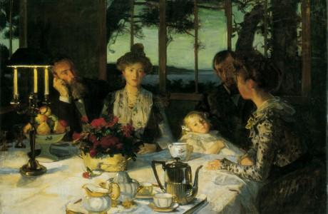 Causerie du soir ou Fin de repas à Kergaït - 1901