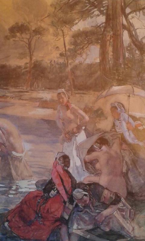 Illustration du Bain des bretonnes