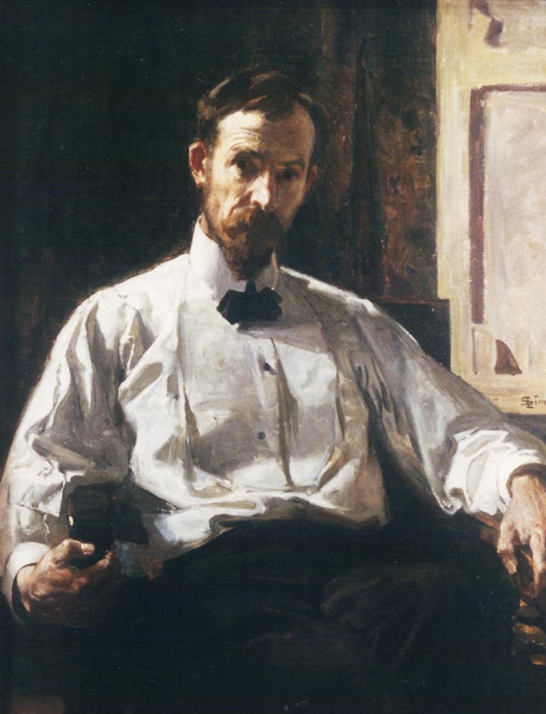 Autoportrait Lucien Simon, musée des Beaux-Arts de Lyon