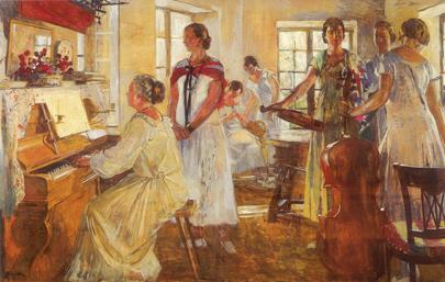 Musique au Sémaphore de Lucien Simon