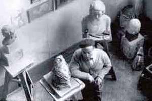 paul simon dans son atelier par brassai