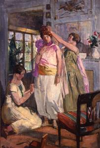 Préparation au bal costumé, Lucien SImon